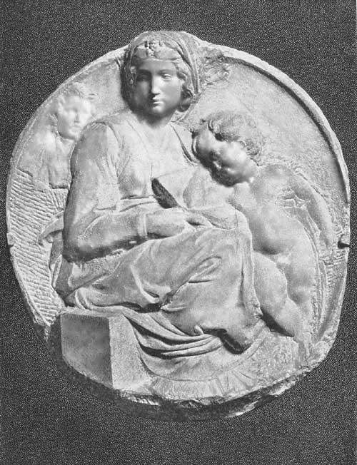 michelangelo's madonna and child tondo