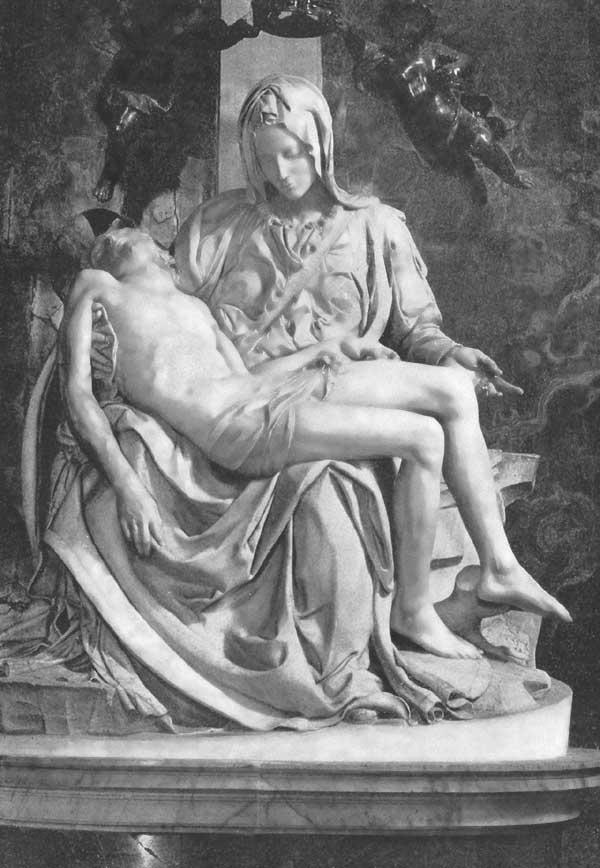 THE PIETÀ. St. Peter's, Rome.  Michelangelo